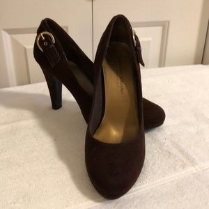 Christian Soriano brown leather heels size 7 1/2